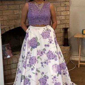 2 piece prom dress